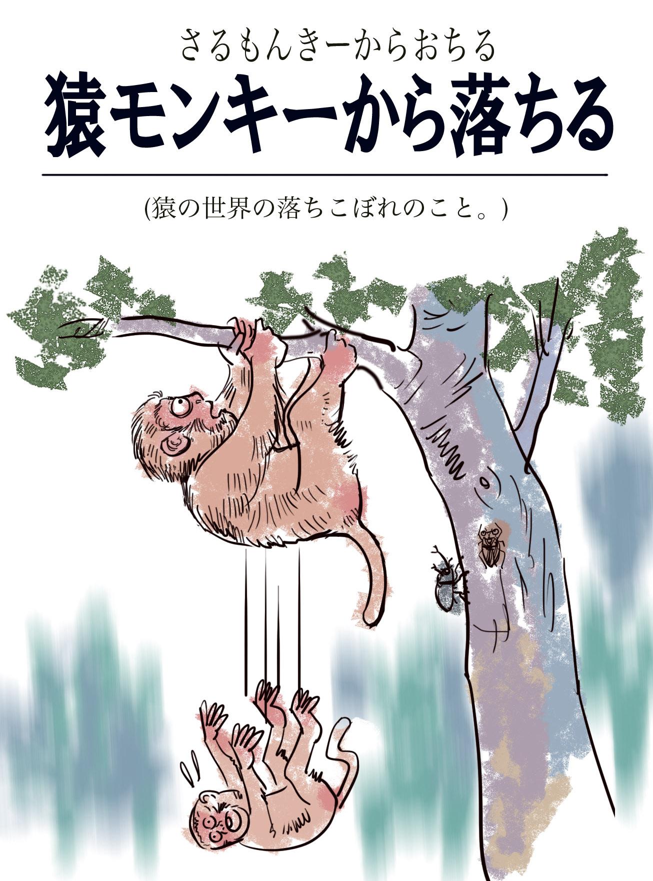 猿モンキーから落ちる