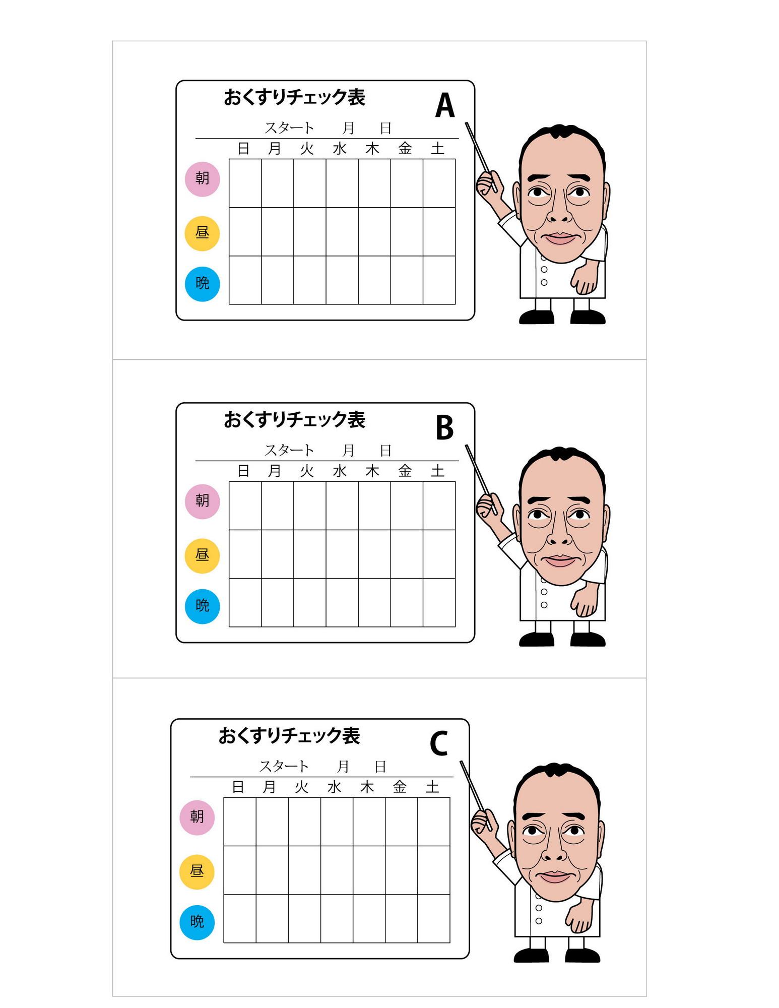 おくすりチェック表ABC